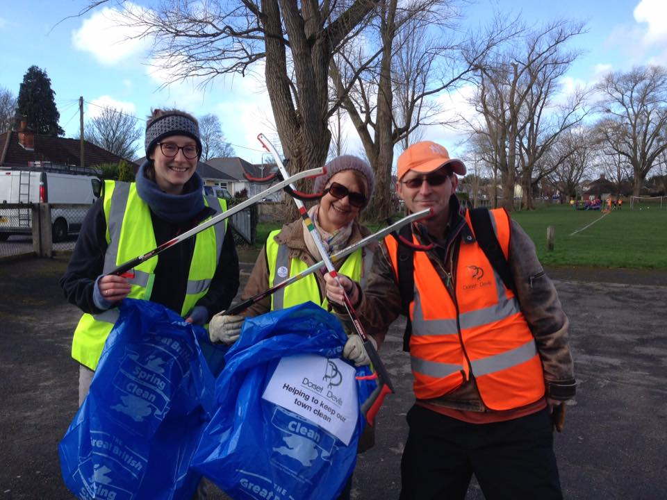 Local litter pickers Dorset Devils