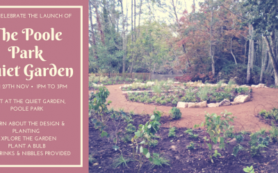 The Launch of the Poole Park Quiet Garden! Monday 27th November, 1pm to 3pm