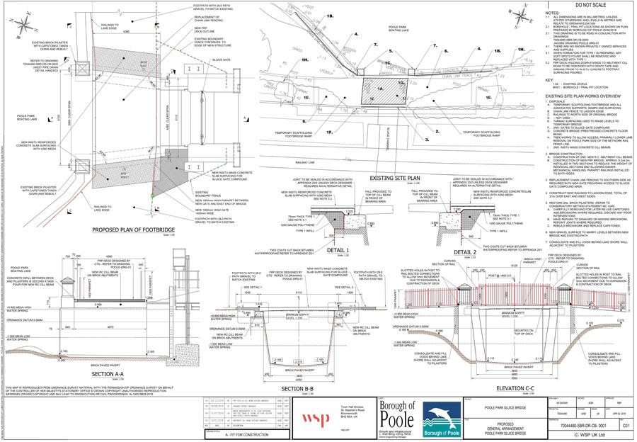 Download the Sluice Bridge detailed design plans (1Mb)