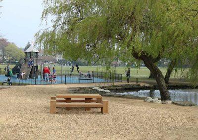 Views towards the play area