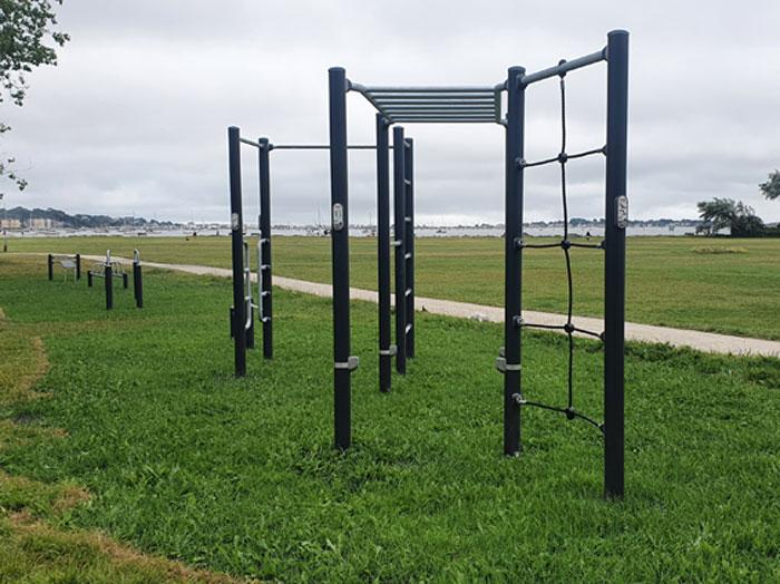 New outdoor fitness equipment
