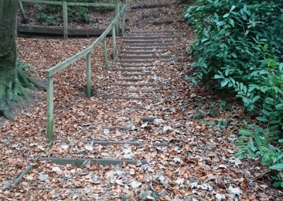 Steep elevations requiring stepped access