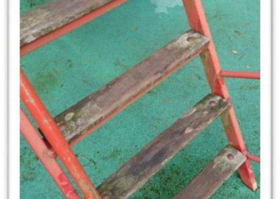 The old junior slide ladder treads