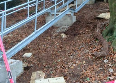 Replacing worn steps from the Elgin Road access, January & April 2018
