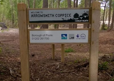 Arrowsmith Coppice site signage