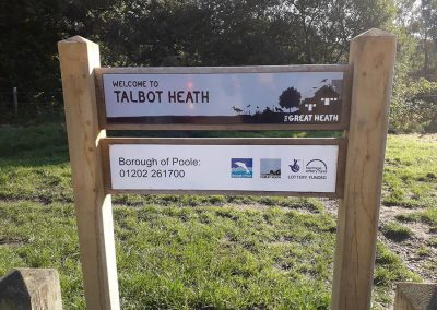 Talbot Heath site signage