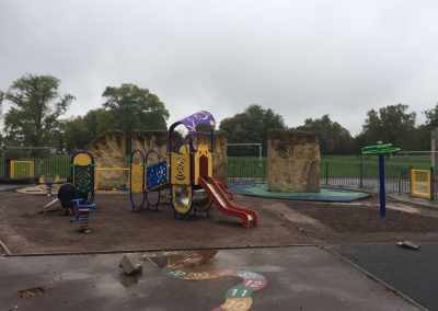 New play equipment, October
