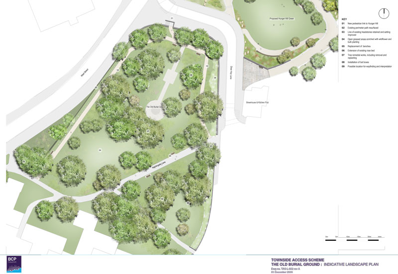 Old Burial Ground Landscape Plan (pdf, opens in a new window)